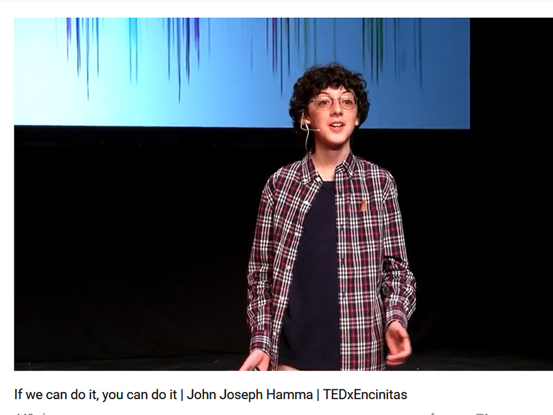 TEDx Talk by Grauer Student