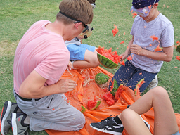 8th Grade Physical Science Class - Exploding Watermelons!