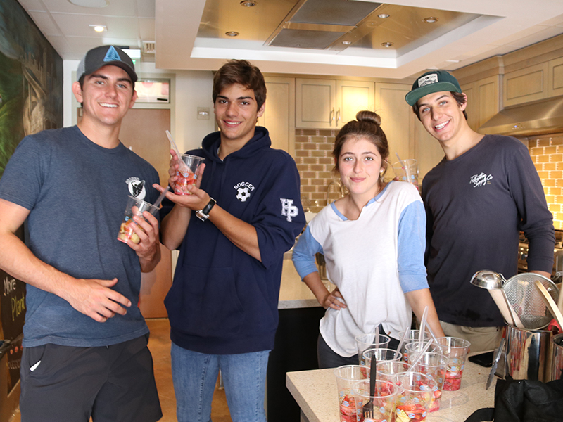 Grauer seniors Colin, Dennis, Amanda, and Reese showing their culinary talents during their Cooking Class final on June 5, 2018
