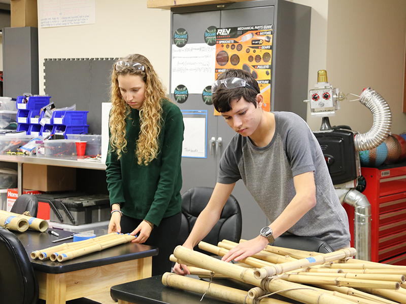 Engineering Design students working on a project